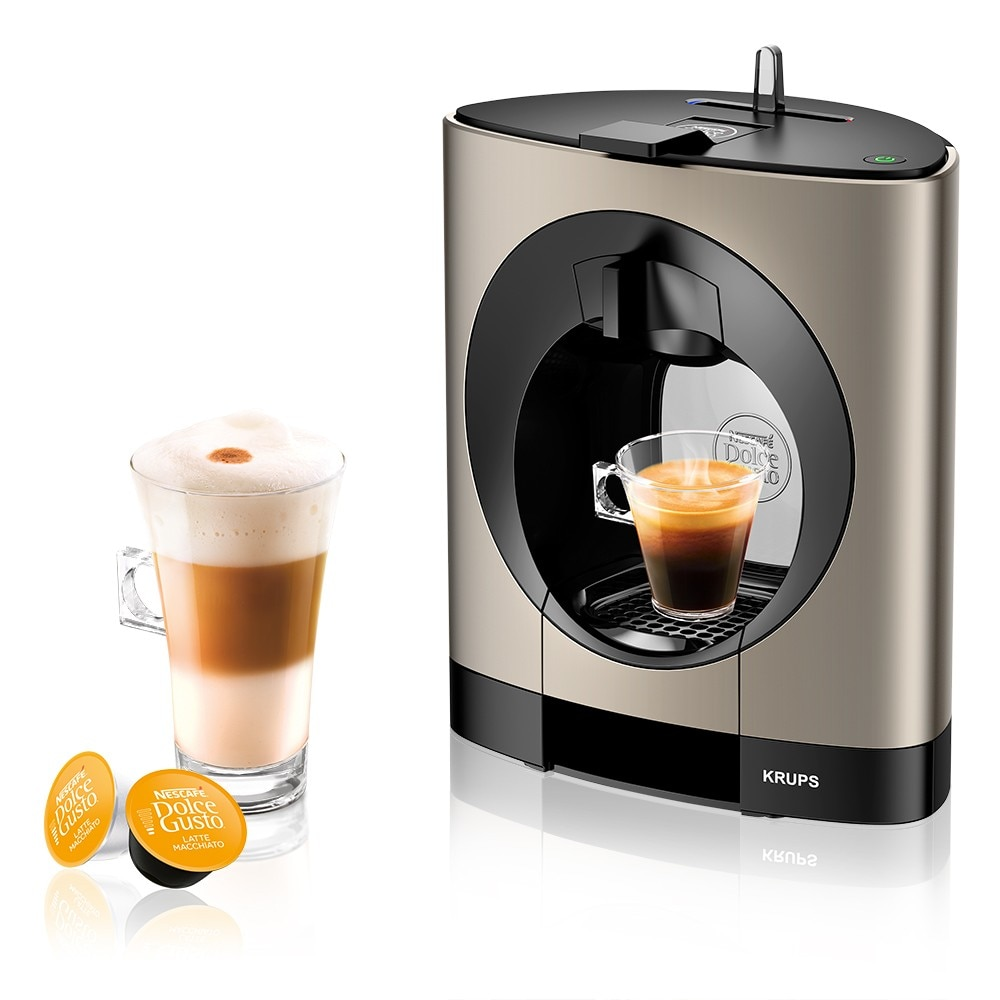 oblo titanium coffee machine by krups nescaf dolce gusto. Black Bedroom Furniture Sets. Home Design Ideas
